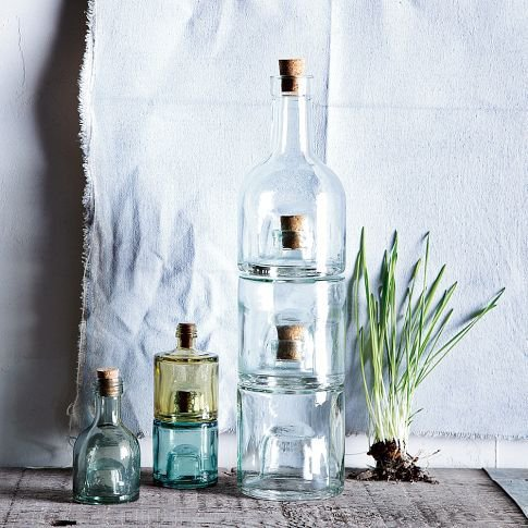 Recycled-Glass Stacking Bottles | west elm