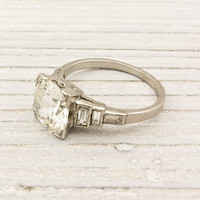 2.02 Carat Old European Cut Diamond Engagement Ring | Shop | Erstwhile Jewelry Co.