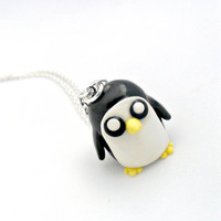 Gunter Adventure Time Chibi Charm Necklace, Cute, Kawaii :D