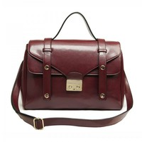 Wine Red Colored Doctor Bag