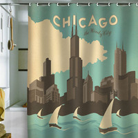 DENY Designs Home Accessories | Anderson Design Group Chicago Shower Curtain