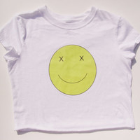Smiley Face Crop Top