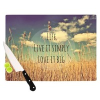 Kess InHouse Alison Coxon Life Artists Cutting Board, 11.5 by 8.25-Inch