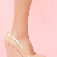 Patent Platform Wedge in Shoes at Nasty Gal