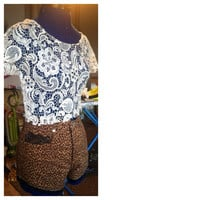 Crochet lace crop top  by AngeliqueMerici on Etsy
