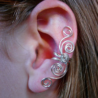 Silver Plated Multi Swirl Ear Cuff New Design by jhammerberg