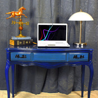 Sleek Blueberry Vintage Traditional Writing Desk or by vintage2mod
