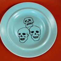 Pile of Skulls plate by trixiedelicious on Etsy