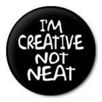 IM CREATIVE NOT NEAT pinback button badge - 1.5 inch / 38 mm pin | ZippyPins - Accessories on ArtFire
