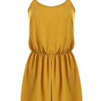 LOVE Gold Chiffon Yoke Playsuit