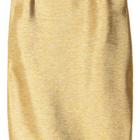 Just Cavalli Metallic-twill pencil skirt – 52% at THE OUTNET.COM