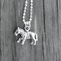 Zebra Necklace, Sterling Silver
