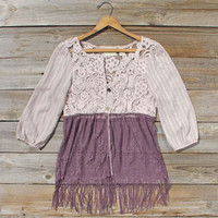 Free Bird Lace Tunic, Sweet Lace Bohemian Tops & Blouses