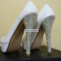 Custom AB Bling Heels by DaedreamDesigns on Etsy