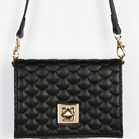 Pyramid-Lock Mini Crossbody Bag