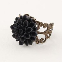 BLACK MAGIC Vintage Inspired Dahlia Filigree by LuxeAdornments