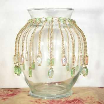 Vase Collar - 01 | BeadworkByMelissa - Housewares on ArtFire