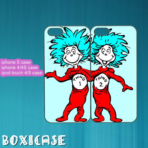 Best Friends,thing 1 and thing 2--iphone from Boxicase on Etsy