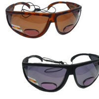 Polarized Bifocal Sunglasses - Sun Readers with Retention Cord, Great for Fishing, Boating, Golf,  Reading Outdoors
