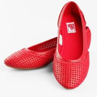 Vans Perfed Leather Lesley Flat - Red - Punk.com