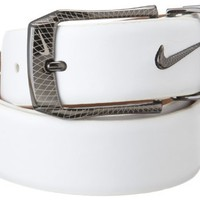 Nike Belts Men's Laser Etched Buckle Belt