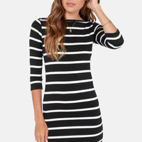 Heir Lines Black Striped Dress