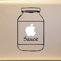 Apple Sauce Macbook Decal Vinyl Sticker for Mac by AllVinyldUp [out of stock]