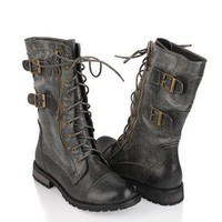 Lace Up Combat Boots