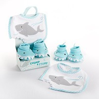 Chomp & Stomp - Shark Bib and Booties Gift Set by Baby Aspen  - Whimsical & Unique Gift Ideas for the Coolest Gift Givers