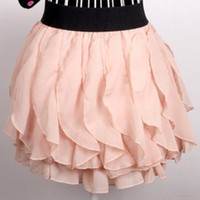 Whimsy. Romantic Sweet Princess. Light Pink Wavy Petals Skirt | GlamUp - Clothing on ArtFire