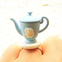 Kawaii Cute Japanese Ring  Teapot Miniature Food Jewelry SALE