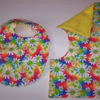Baby Bib and Burp Cloth for Mom