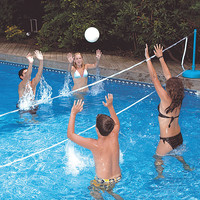 Swimming Pool Volleyball and Badminton Combo at Brookstone—Buy Now!