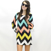 RESTOCK Sandy Towers Chevron Zig Zag Dress