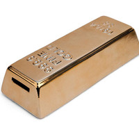 Kikkerland Design Inc   » Products  » Ceramic Gold Bar Coin Bank