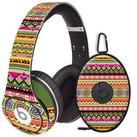 Happy Bright Tribal Decal Skin for Beats Studio Headphones & Carrying Case by Dr. Dre