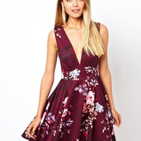 ASOS | ASOS Pretty Watercolour Skater Dress at ASOS