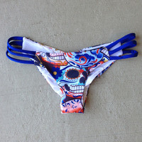 Sugar Skull Cheekies - Beach Babe Swimwear