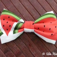 Watermelon Hair Bow by WeHeartBowsShop on Etsy