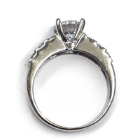 ELEGANT SILVER RING + MULTI GEM ARRAY / WOMANS SIZE 7.25/  *FREE SHIPPING*