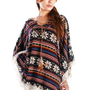 Amazon.com: Retro Style Native American BOHO Poncho Fits US Size 2 - 8 (Item# 834): Clothing