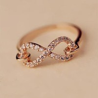 Infinity CZ Ring Gold OIS520 from topsales