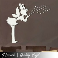 Fairy Girl Mirror Wall Sticker