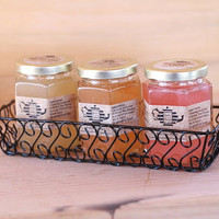 Pure Raw Honey Tea Gift set of 3 with wire gift by honeyteathyme