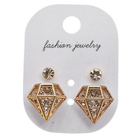 Diamond Shape Earrings Set | Yotta Kilo