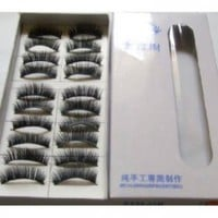 Black Long False Eyelashes (10 Pairs):Amazon:Beauty