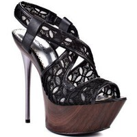 Bebe Shoes Celeste - Black Fabric
