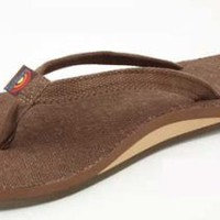 Rainbow Sandals Ladies Single Arch Narrow Strap Hemp Eco Sandals - Available in All Sizes and Colors