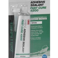 3M Marine Adhesive/Sealant Fast Cure 4200, 05260, White, 3 oz (Case of 6)