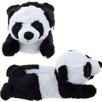 Adult & Children Kid Size Panda Bear Animal Paw Plush Fuzzy Slippers